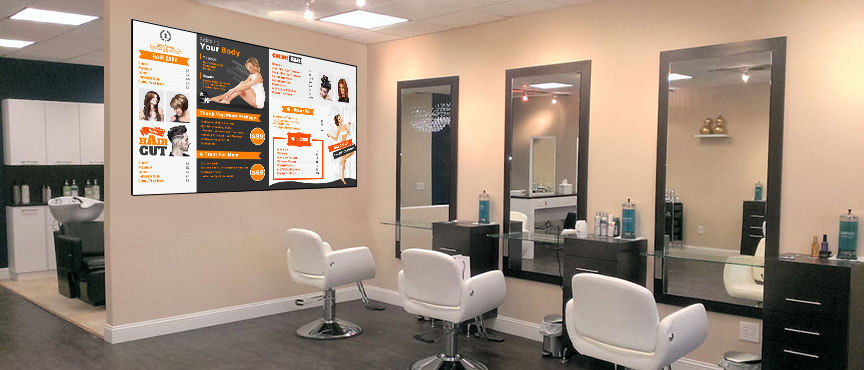 Salon – The right cuts to give a new makeover to your digital menu board with Sign Menu