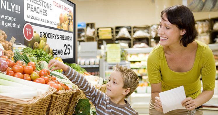 Promote your retail products in detail through digital display board with Sign Menu