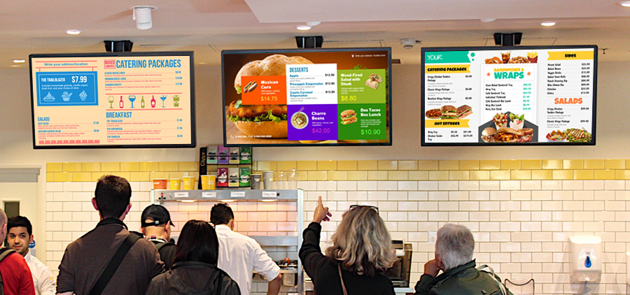 Digital video menu board templates for restaurant at sign menu digital menu boards templates from sign menu maxwellsz