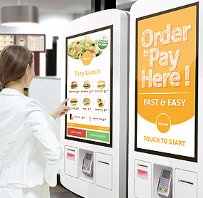 Digital menu boards for QSR