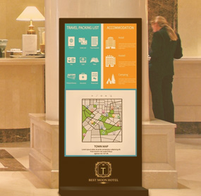 Digital menu boards for hospitality service
