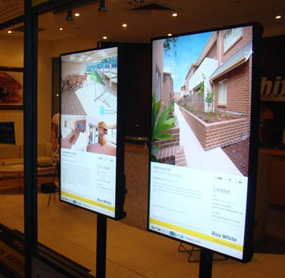 Digital menu boards for real estate