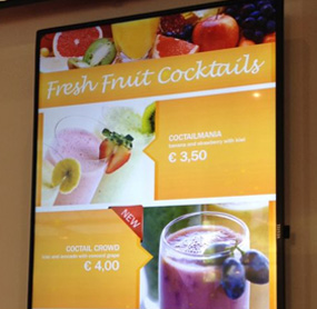 Digital menu boards for restaurants