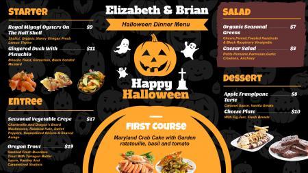 Template of a Restaurant  ( Halloween festival )