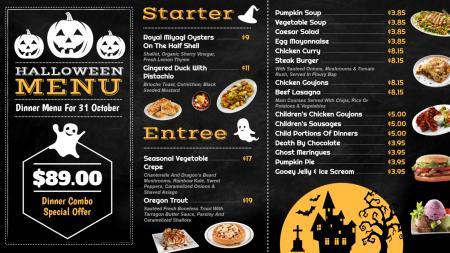 Template of a Restaurant (Halloween festival menu )