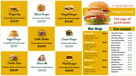 Template of a fast food restaurant