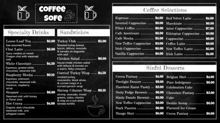 Template of a multi-cuisine Coffee Shop