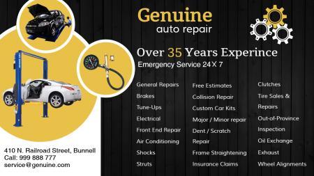 template of a Car Repair garage