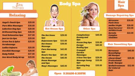 Template of a beauty salon