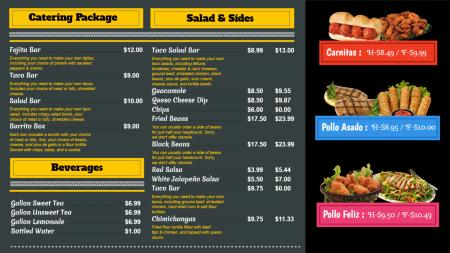 Dark restaurant menu board idea