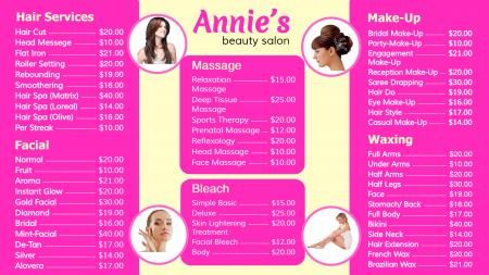 Template of a branded Beauty Parlour
