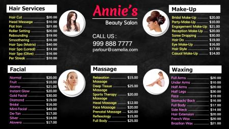 Template of a beauty Parlour