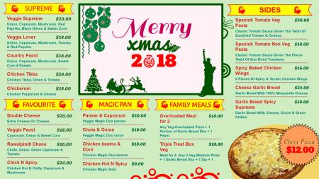 Merry Christmas offerings template of a restaurant
