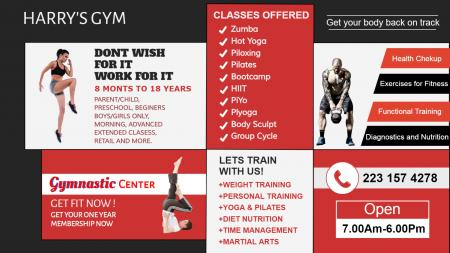 Signage template for Gym