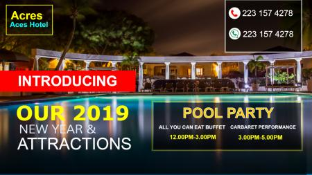 Hotel Pool Party Digital Signage