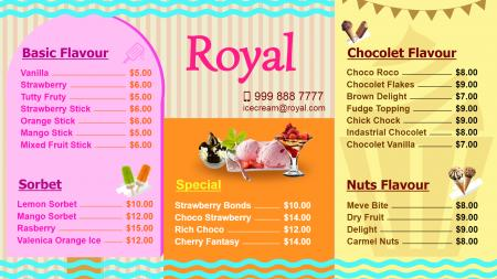 Ice-Cream Parlor signage design idea