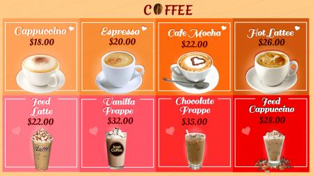 Template of a Coffee house with speciality offerings