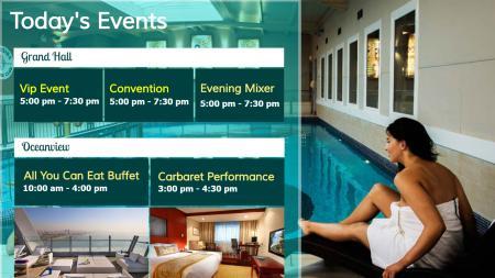 Event calendar signage design