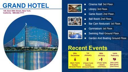 Hospitality Event Display Signage