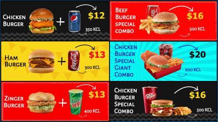fast Food offer Menuboard