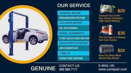 Digital Signage for Car Repair