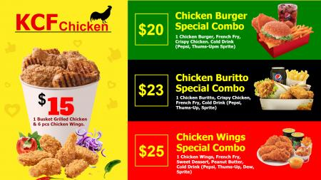 High Quality Food Menu Template for Signage Screen