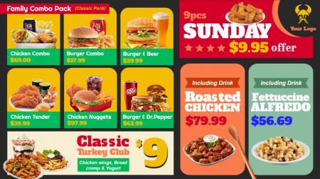 Catering menu board template