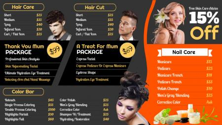 Hair cutting signage template