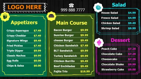 Free Horizontal Menu Design
