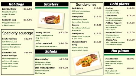 Catering Menu Board Design