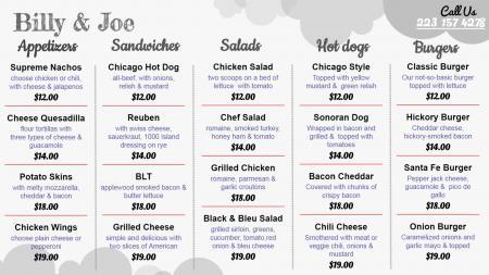 Free Food menu board