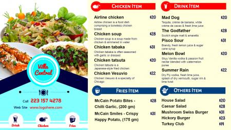 lunch Items For a Digital Signage Design