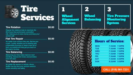 Car services display for garage
