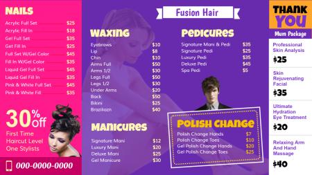 Beauty hair and care template