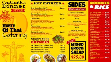 Bistro grill menu board template