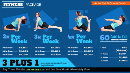 Corporate fitness club signage design