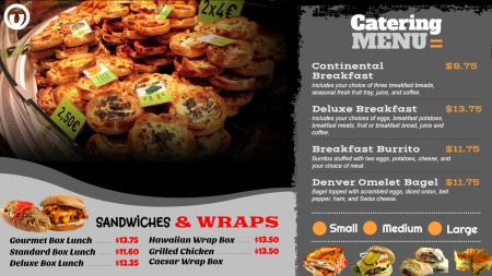 Catering video menu template