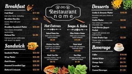 menu board