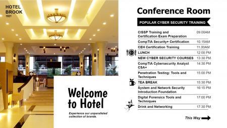 Hospitality service signage design