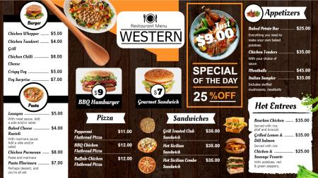 western menu board