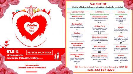 Valentine Special Menu Design