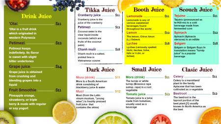 juice Bar Signage Solution