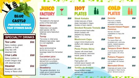 Juice Bar Digital Signage
