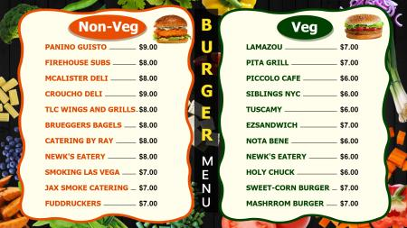 Fast food Burger Digital Signage