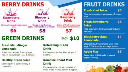 Fruit Drinks Menu Board