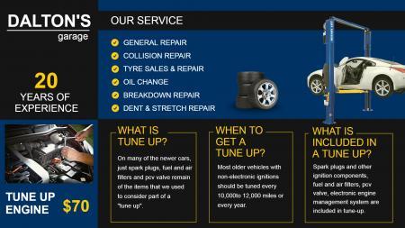 Car Repairing Menu