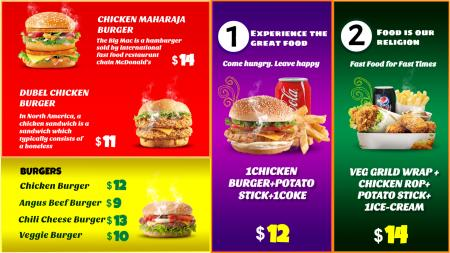 Burger Menu Board Design
