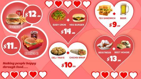 Valentine Special Menu Board