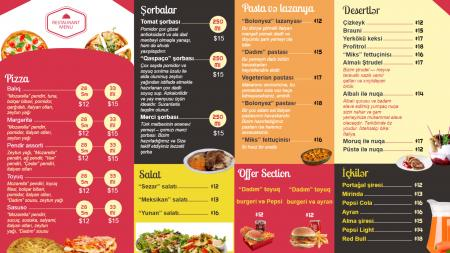 Fast Food Menu Russia