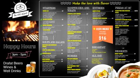 Tap Room Menu Design